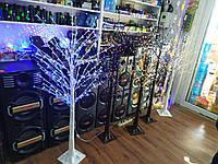 """Новогоднее декоративное светодиодное дерево гирлянда """"Береза"""" 160 см 220 Led IP 47,тепло белый"""