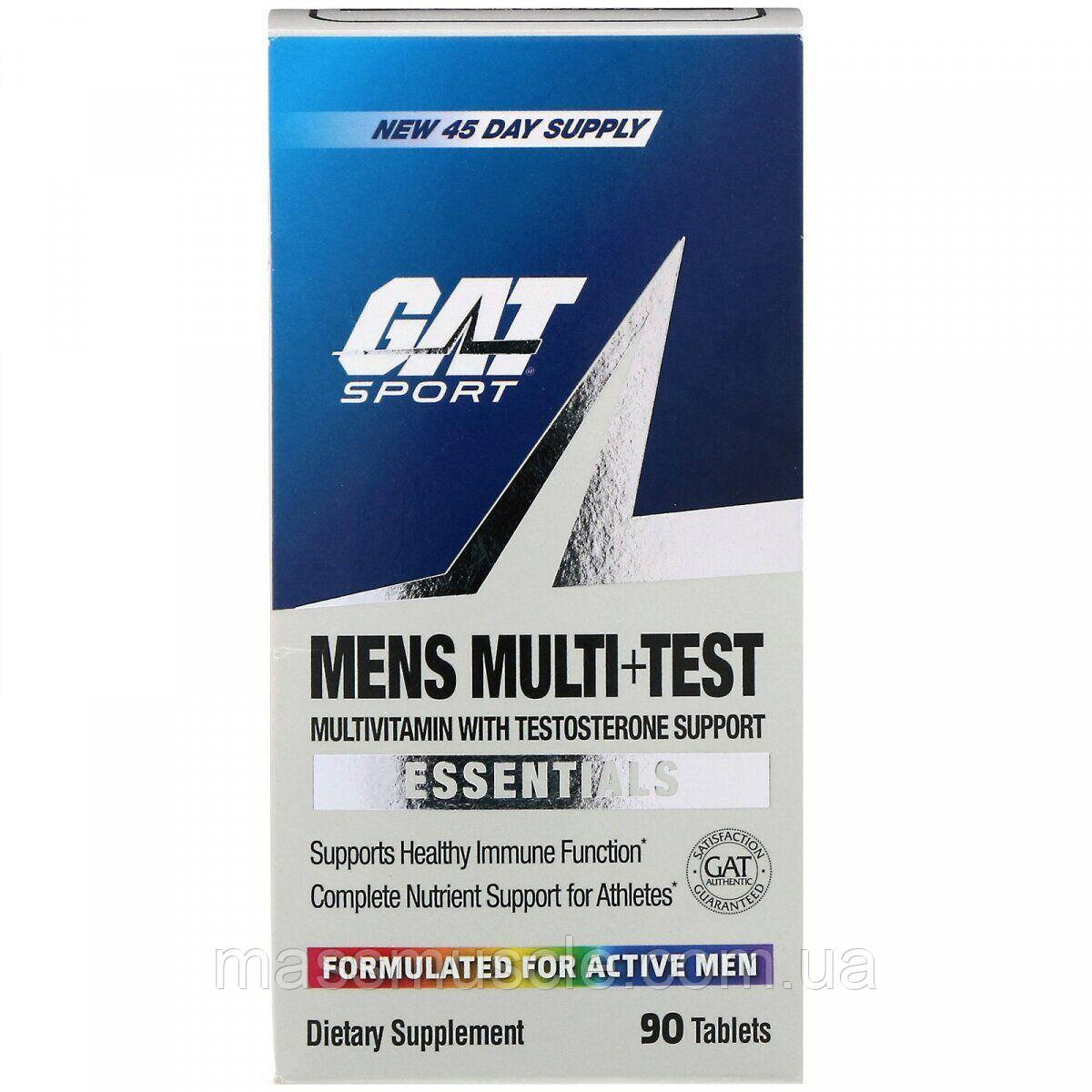 Витамины для мужчин GAT MENS MULTI+TEST 90 TAB