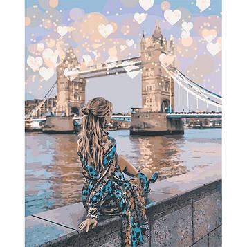 Картина по номерам 40×50 см. Идейка (без коробки) Романтический Лондон (КНО 4574)