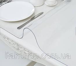 Скатерть мягкое стекло для стола и мебели Soft Glass (2.8х1.4м) толщина 0.4 мм Прозрачная, фото 2