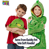 Детская толстовка плед худи с капюшоном и плюшевой игрушкой Huggle PETS БЕЗ ВЫБОРА ЦВЕТА + ПОДАРОК:Магнитный