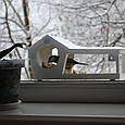Годівниця для птахів з присосками на вікно Біла, фото 8