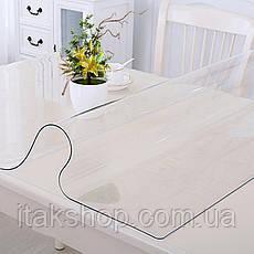 Скатерть мягкое стекло для стола и мебели Soft Glass (2.9х1.4м) толщина 0.4 мм Прозрачная, фото 3