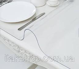 Скатерть мягкое стекло для стола и мебели Soft Glass (3.0х1.4м) толщина 0.4 мм Прозрачная, фото 2