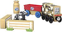 Fisher-Price Thomas and Friends Wood, Diesel's Dairy Drop-off. Деревянный поезд - Дизель Томас и друзья