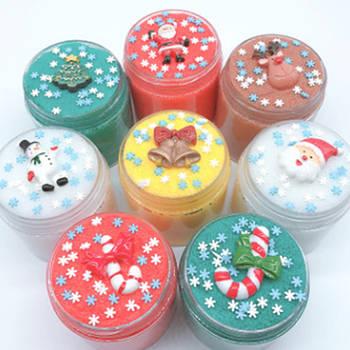 Christmas snow slime / рождественский слайм