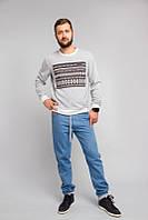 Мужской серый свитер, фото 1