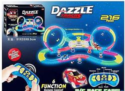 Автотрек светящийся, Гибкий на Радиоуправлении Dazzle Tracks (216 деталей)