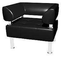 Кресло для посетителей Тонус, к/з черный,