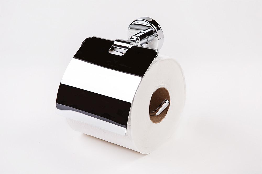 Тримач туалетного паперу з кришкою латунь Long 8515Б