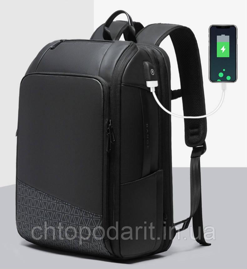 Водонепроницаемый городской рюкзак Bange с отдельным карманом для ноутбука чёрный Код 15-0030
