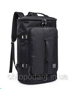 Туристическая сумка - рюкзак Kaka для путешествий чёрный Код 15-0093