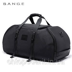 Сумка - рюкзак Вange с уникальной трансформацией в городской рюкзак или дорожная сумка чёрная Код 15-0081