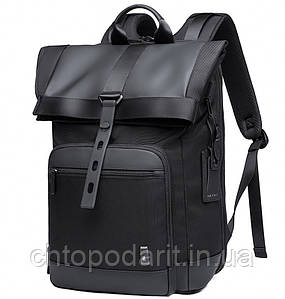 Стильный городской рюкзак мешок Bange Роллтоп чёрный  Код 15-0077
