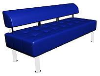 Диван для відвідувачів Тонус без підлокітників, 160*60*70h, до/з синій,
