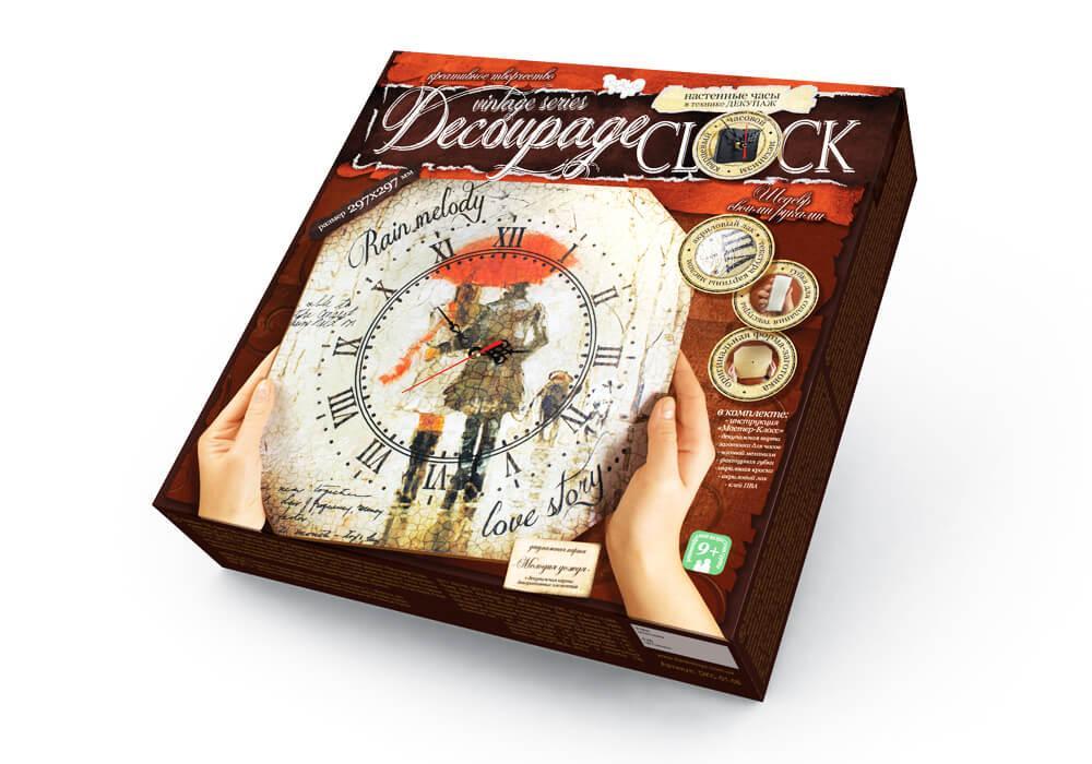Настенные часы Decoupage Clock, набор для творчества DKC-01-06 (Мелодия дождя)