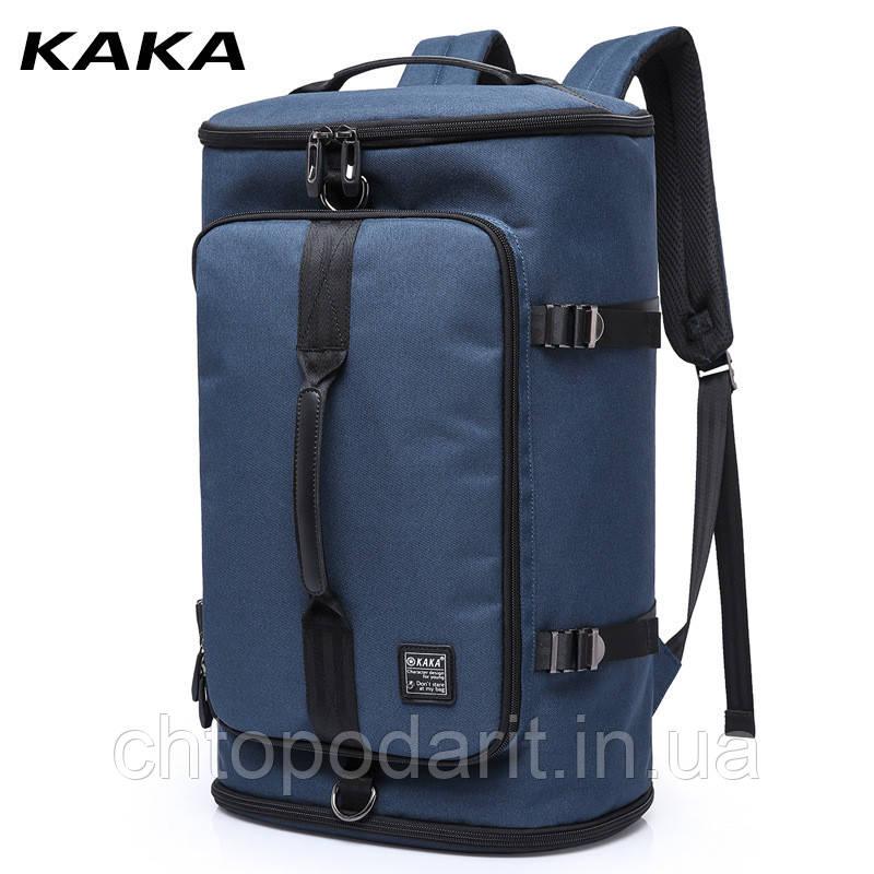 Туристическая сумка - рюкзак Kaka для путешествий синий Код 15-0091