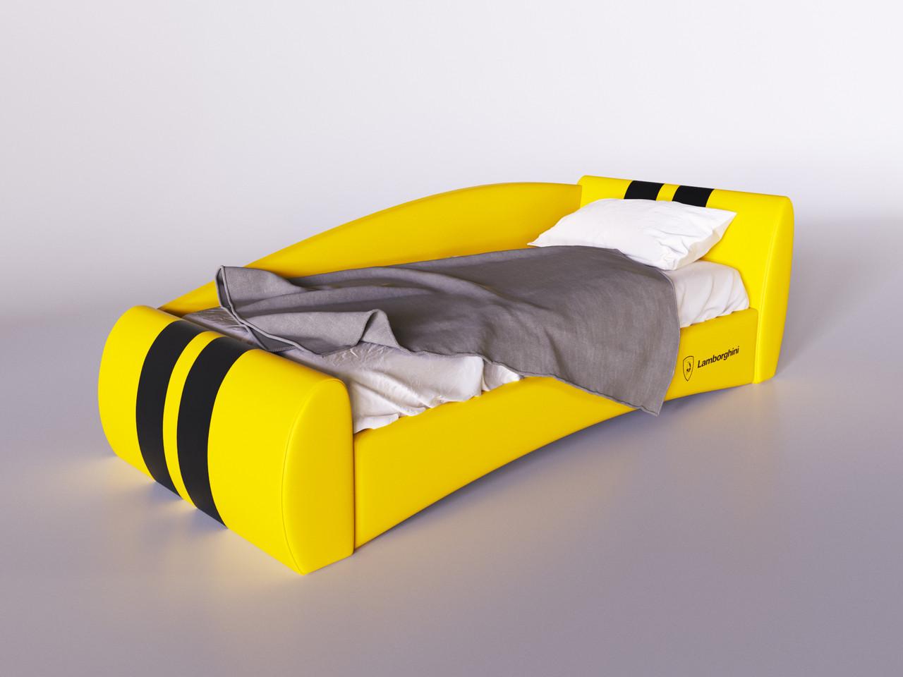 """Кровать """"Формула"""" ярко-желтая"""