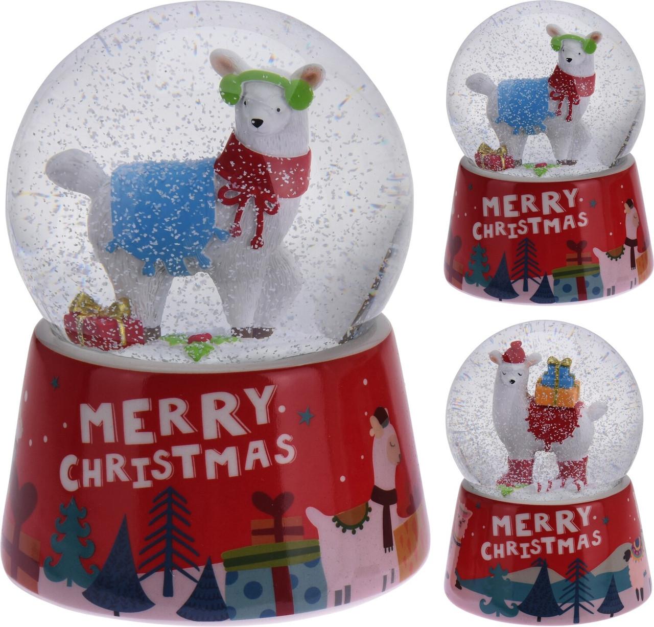 Снежный шар Лама (большой) 10.9х10.9х15 см (IMP_NG_7_BG_LAMA)