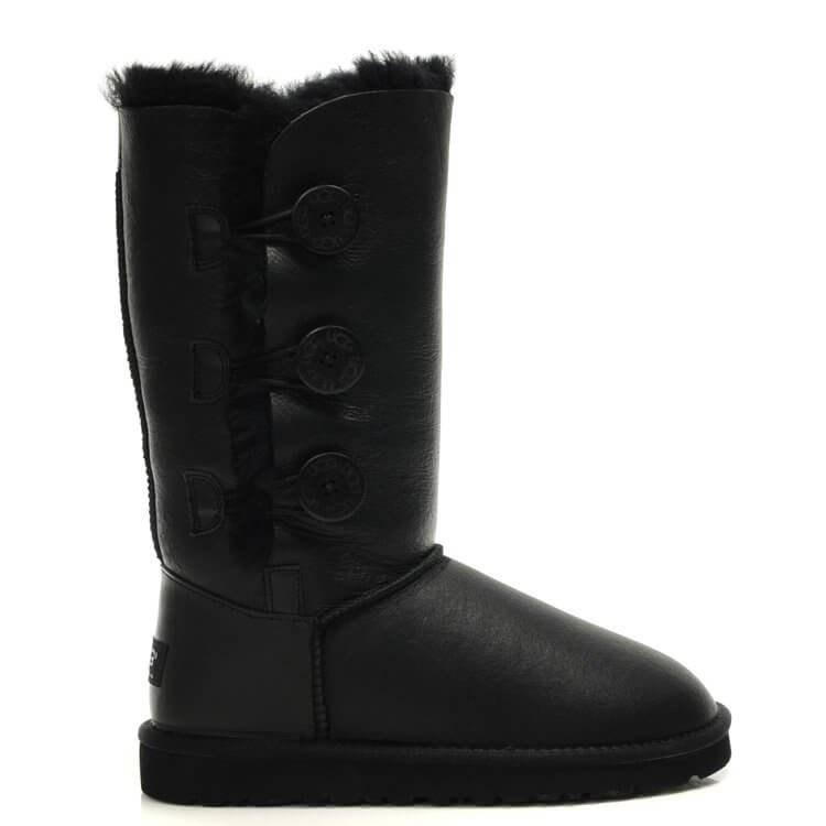 """UGG BAILEY BUTTON TRIPLET BOOT """"BLACK"""" Арт. 0368"""