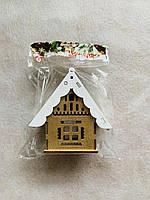 Подсвечник домик деревянный 1 шт, фото 1