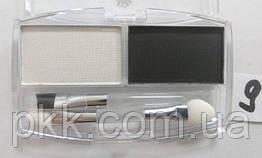 Тени-корректор для бровей и век FFleur Eyebrow компактные матовые двойные EВ01 № 09 Белые Чёрные