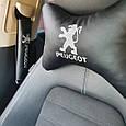 """Подголовник в машину с вышивкой """"Peugeot"""", фото 2"""