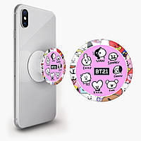 Попсокет (Popsockets) тримач для смартфона БТС (BTS) (8754-1099)