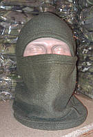 Флисовая шапка-шарф-балаклава, олива