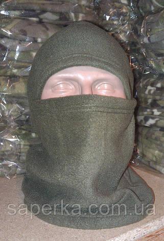 Флисовая балаклава ниндзя , олива, фото 2