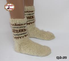 Настоящие шерстяные носки ручной работы Блюз, фото 3