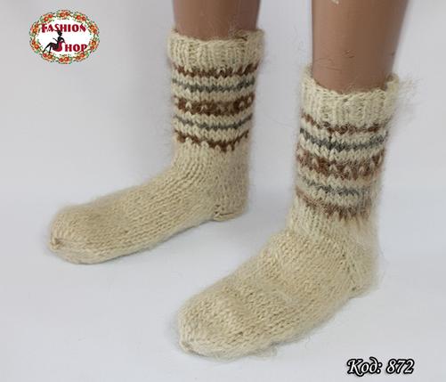 Настоящие шерстяные носки ручной работы Блюз, фото 2