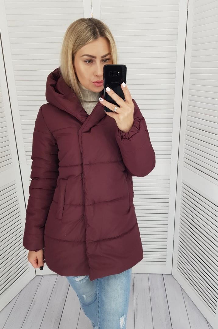 Женская куртка плащевка на 200 силиконе размер: 42, 44, 46, 48