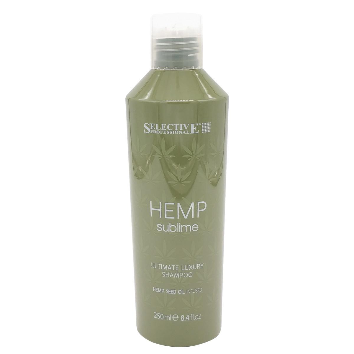 Увлажняющий шампунь с маслом семян конопли для сухих и поврежденных волос  Selective Professional  250 мл