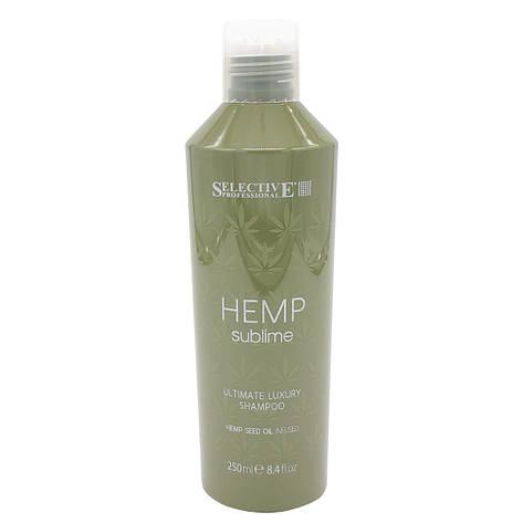 Увлажняющий шампунь с маслом семян конопли для сухих и поврежденных волос  Selective Professional  250 мл, фото 2