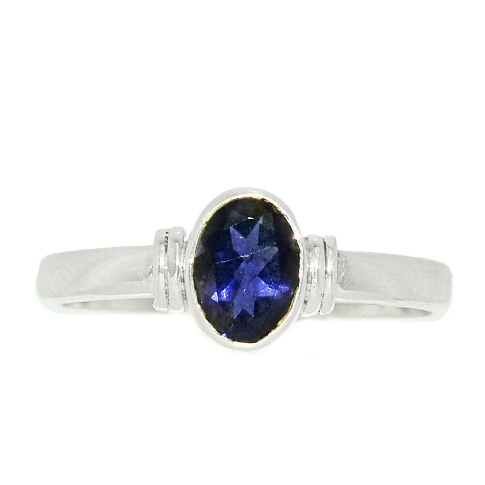Серебряное кольцо с иолитом, 2547КЦИ