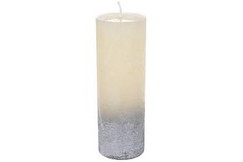 Свічка циліндр 20см,шампань зі сріблом №C07_20_1-1.9.9.1/6670/Bonadi/(12)