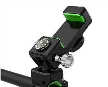 Велосипедний тримач для телефону компас, поворот 360°, 2led, металевий №Q003