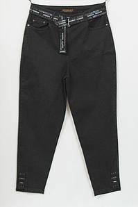 Турецкие женские черные джинсы больших размеров 48-56
