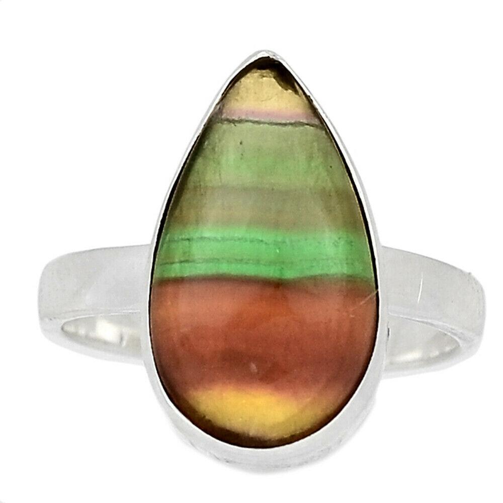 Серебряное кольцо с флюоритом, 2548КЦФ
