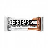 Протеиновый батончик BioTech Zero Bar 50g. ДВОЙНОЙ ШОКОЛАД