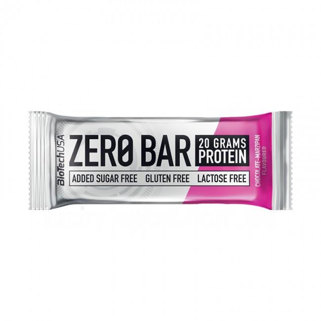 Протеиновый батончик BioTech Zero Bar 50g. ШОКОЛАД МАРЦИПАН
