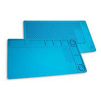 Силиконовый коврик для ремонта телефонов TE-503 28 x 31см (Голубой)