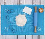 Силиконовый коврик для раскатки теста (40 х 30 см) СК-1