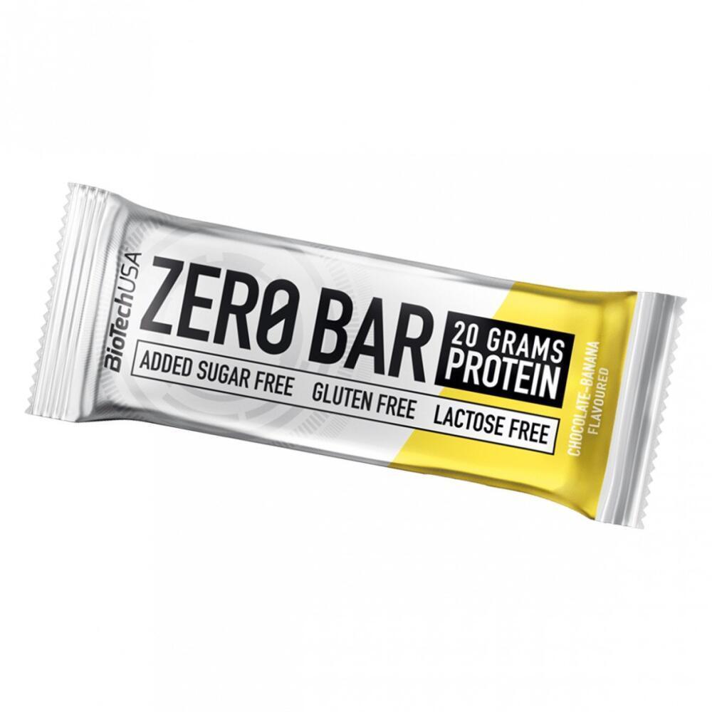 Протеиновый батончик BioTech Zero Bar 50g. ШОКОЛАД БАНАН