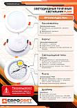 Светильник точечный врезной EVROLIGHT 18Вт круг PLAIN-18R 6400К, фото 3