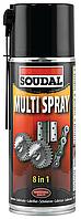 Универсальная смазка широкого применения 400мл Multi Spray SOUDAL, фото 1