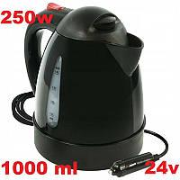 Автомобильный чайник 24в дисковый 250w 1000ml компактный электрочайник от прикуривателя в машину