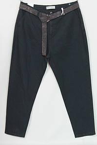 Турецкие женские темные джинсы больших размеров 48-54