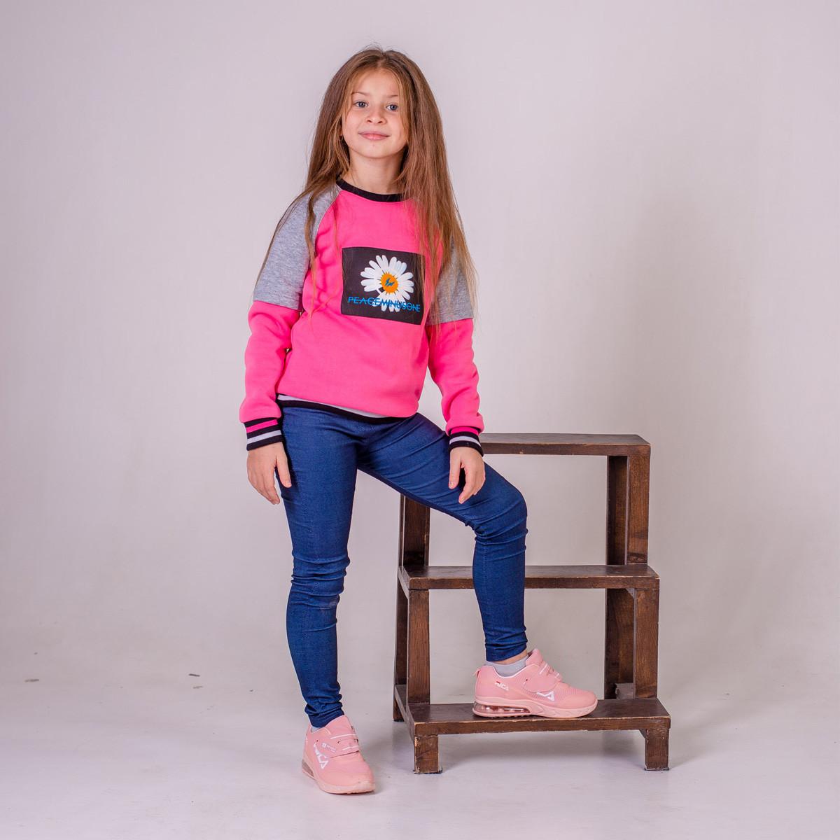 Леггинсы утепленные для девочки SmileTime Classic Jeans, джинс